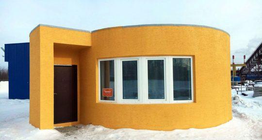 3-d house construction